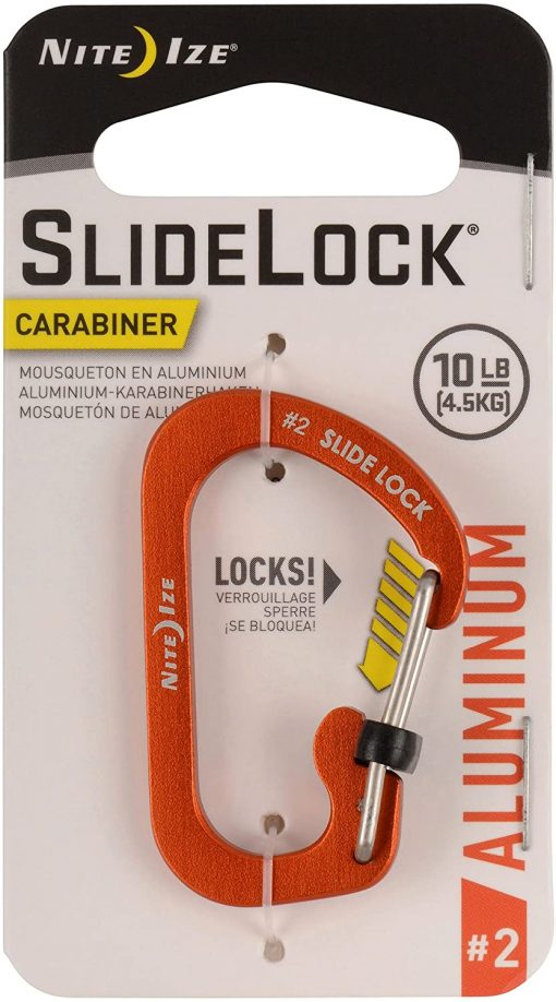 CARABINER SLIDELOCK AL#2 - ORANGE