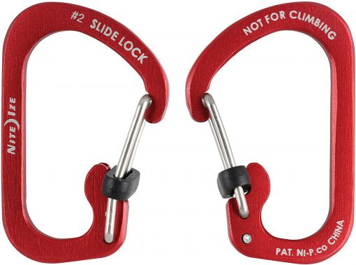 CARABINER SLIDELOCK AL#2 - RED