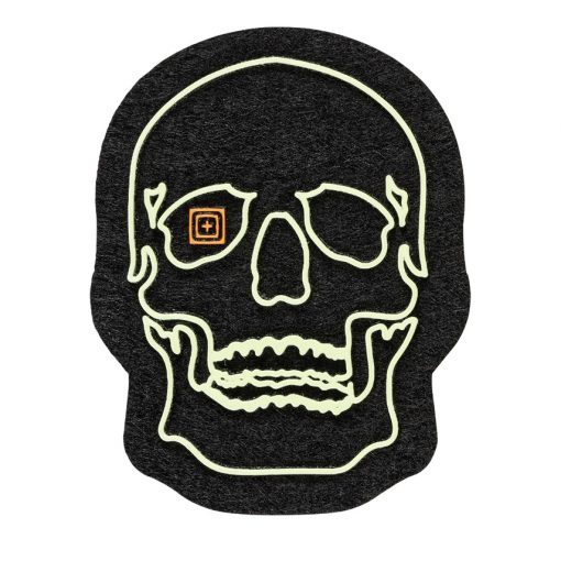 PAINTED GLOW SKULL PATCH