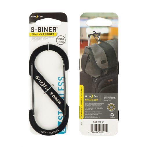 S-BINER SIZE SIZE 3 - BLACK