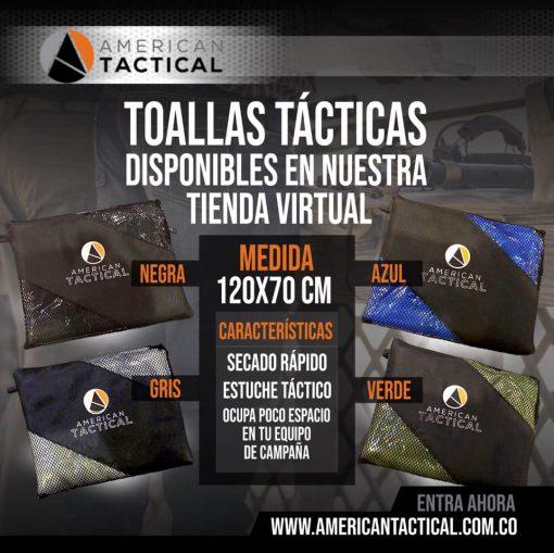 TOALLA TÁCTICA DE MICROFIBRA AMT 120 X 70 CMS