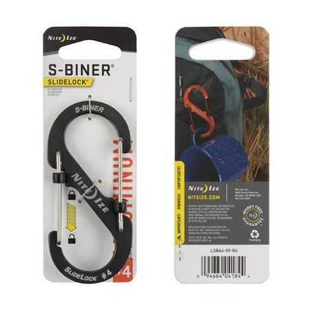 S-BINER SLIDELOCK AS #4 - CHARCOAL